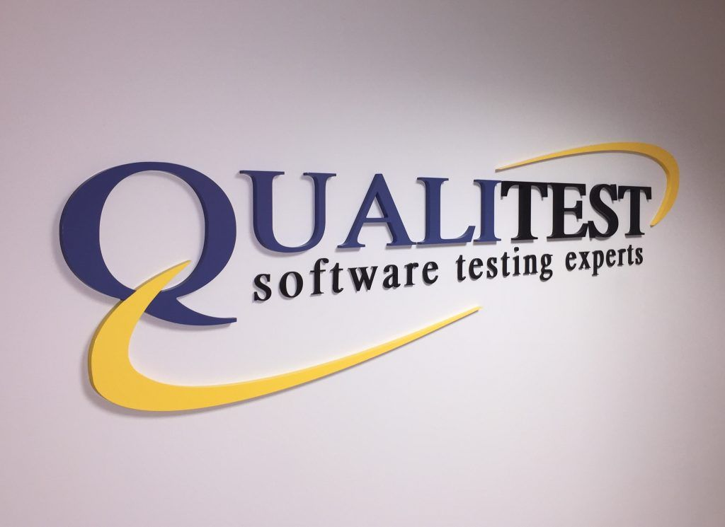 qualitest lobby sign